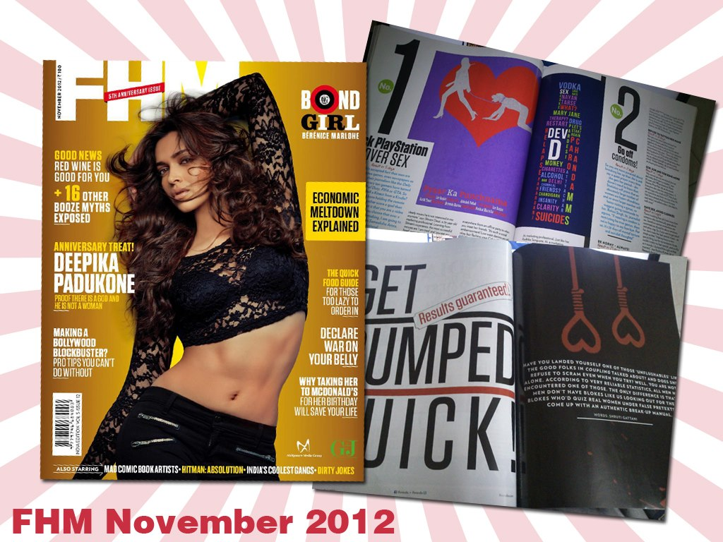 FHM November 2012 | Story on bollywood